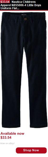 Boys uniforms: Nautica Childrens Apparel N855006-4 Little Boys Uniform Flat Front BUY IT NOW ONLY: $33.54