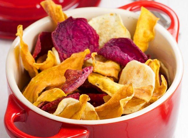 #chips di #verdure, ottima alternativa alle #patatine in busta. #ricette#sfiziose #howto #sicucina #donnesi