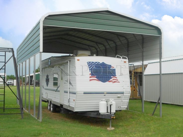 Our tough steel RV shelters provide excellent year-round protection from the weather. Buy you RV Shelter NOW, from Carport1.com