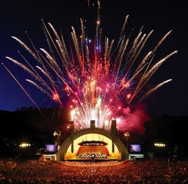 View of the Hollywood Bowl with fireworks!  Top 10 Activities in Los Angeles - | Bel Air Homes | Beverly Hills Mansions Real Estate  / AmericanaRealEstateGroup.com @AmericanaREG