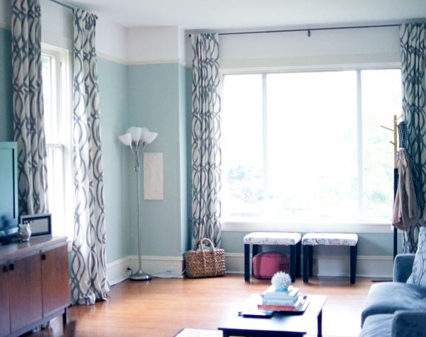 Living Room Dining West Elm Scribble Curtains Modern
