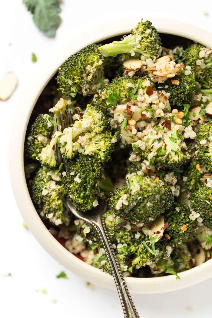 Creamy Vegan Broccoli Quinoa Salad Simply Quinoa Recipe Quinoa Salad Simply Quinoa Vegan Potluck