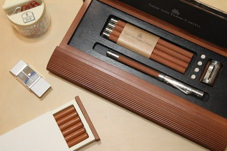 Graf von Faber-Castell pencils and holder