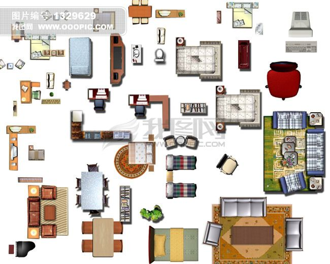 furniture plan view - Google Search