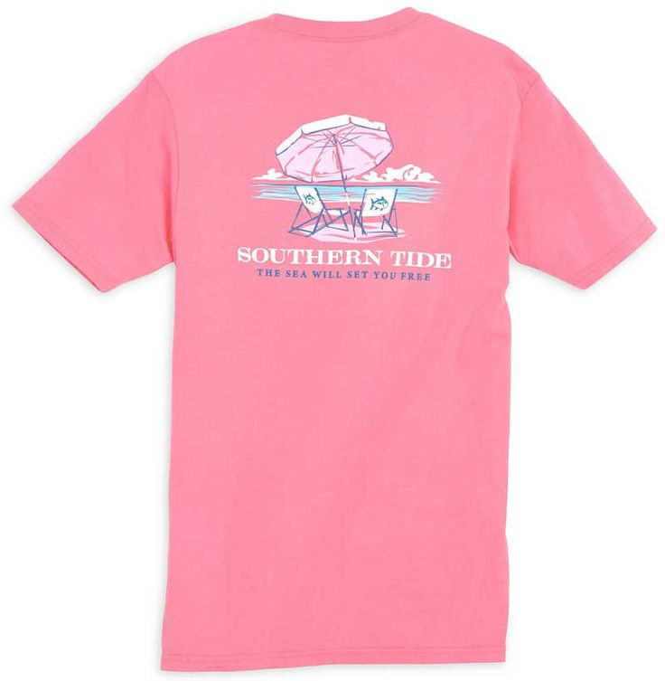 Southern Tide Women's The Sea Will Set You Free T-Shirt in Smoothie