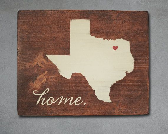 Texas State Wood Art.