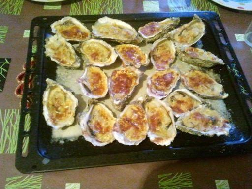 Recette de Huîtres gratinées au parmesan