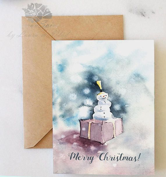 Holiday Greeting Card  'Frosty and the Present'