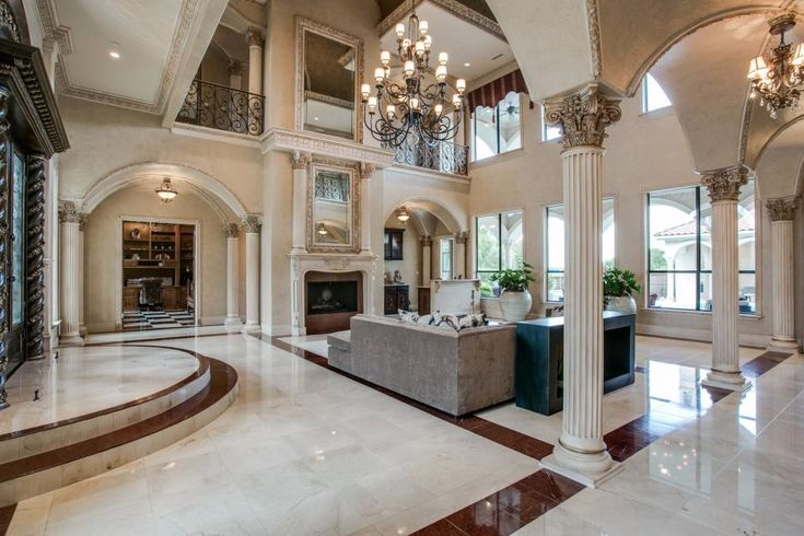 Tour A Grand Mediterranean Style Home In Plano Texas