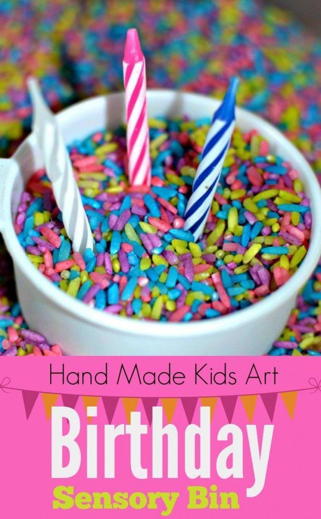 Birthday Sensory Bin Birthdays Toddlers And Hands