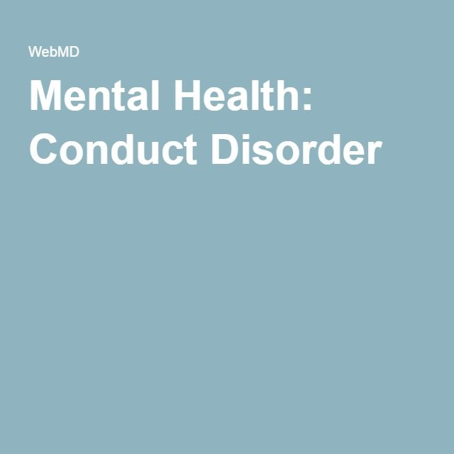 Mental Health: Conduct Disorder