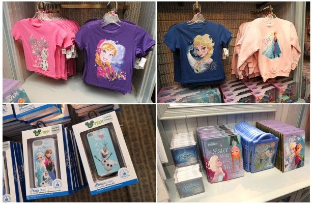 New Frozen merchandise at the parks!
