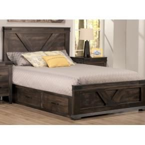 Queen Platform Bed With Drawers South Shore Holland Full