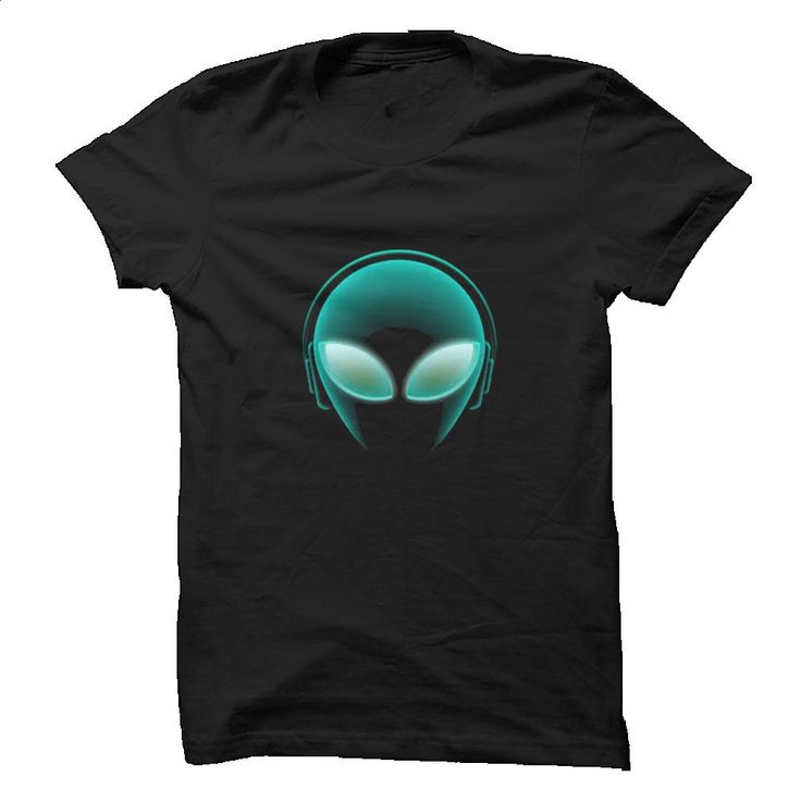 Alien with headphones T Shirt, Hoodie, Sweatshirts - personalized t shirts #style #clothing