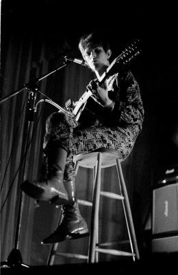David Bowie performing live at the Friars Club, Aylesbury January 1972