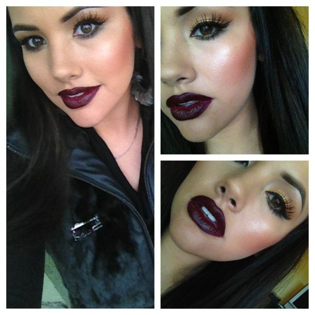 Lookin like Wednesday on a Sunday, media lipstick with current liner, MAC.