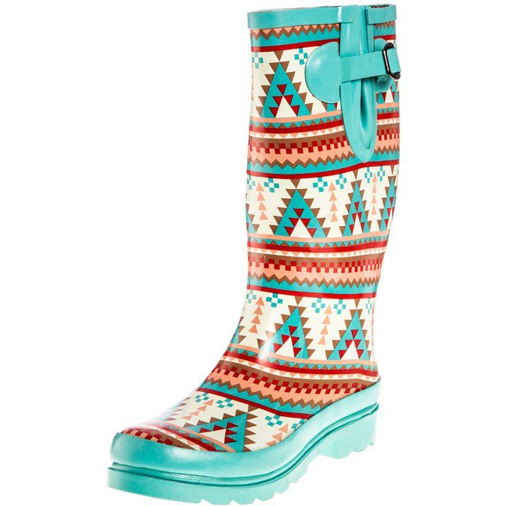 It's Rain Boot Season!  Women's Blazin Roxx Dakota Turquoise Rain Boot