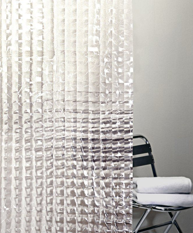 Ebern Designs Willa Peva 4g Cubic Vinyl Single Shower Curtain