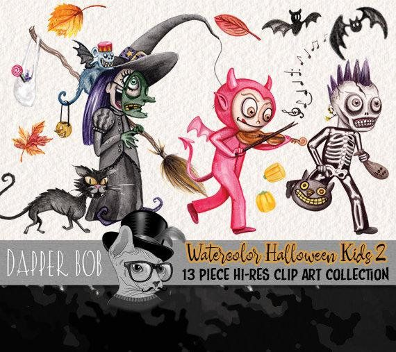 HALLOWEEN Digital Clipart, Halloween Clipart, Trick or Treat Clipart    Halloween digital, Halloween clipart, Halloween kids