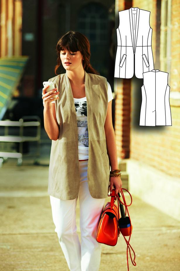 Suede Waistcoat (Plus Size) 04/2012 #burdastyle #sewingpattern #sew #sewing #diy