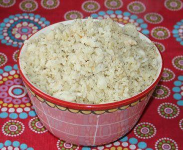 Bloemkool in plaats van rijst