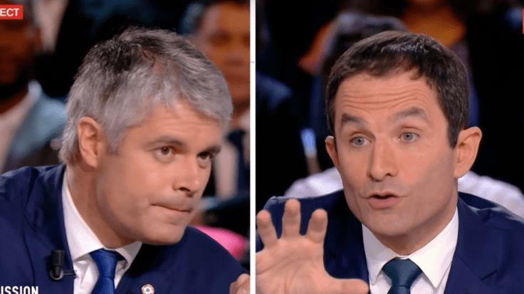 Lors d'un débat houleux sur le plateau de France 2, le vainqueur de la primaire socialiste et le dirigeant de région LR ont étalé au grand jour leurs divisions, sur des sujets tels que le voile et le «communautarisme» musulman.