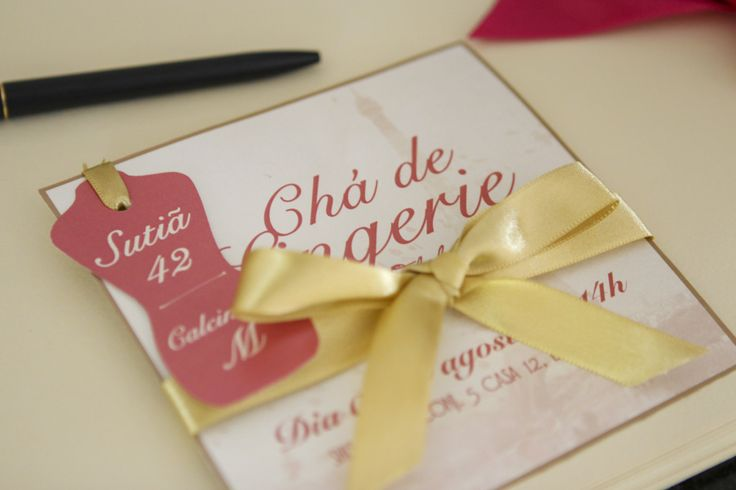 Convite Chá de lingerie - Bridal Shower Invitation Tema: Oh lala Paris by One Day Wedding Planning