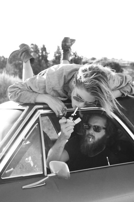 Just a road trip cigarette...
