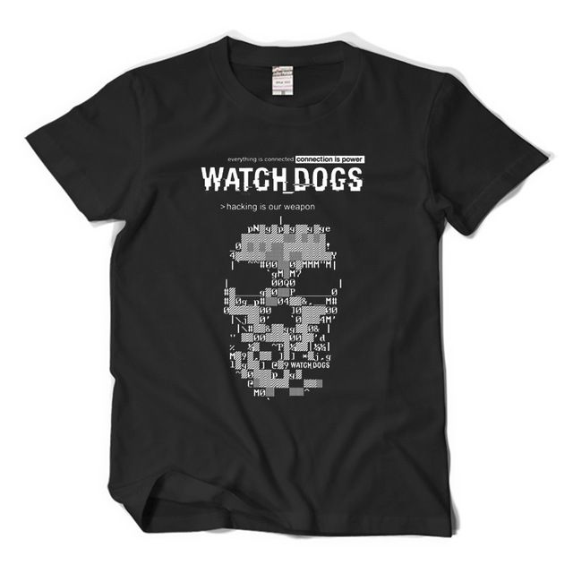 Часы собаки футболка новый летний взрослых майка мода мужчины широкий коротким рукавом тис
