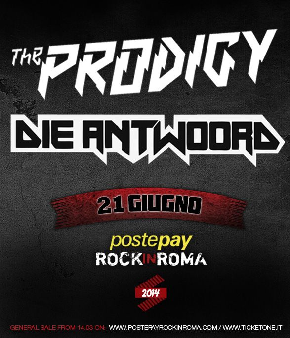 The Prodigy + Die Antwoord  21 giugno 2014 - Postepay Rock in Roma
