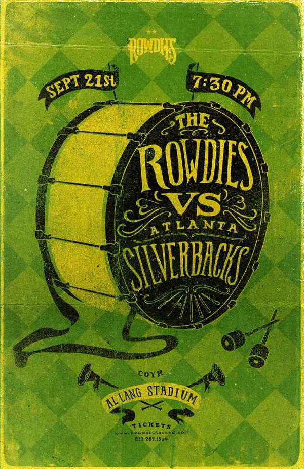 Tampa Bay Rowdies - Game Posters by Conrad Garner, via Behance