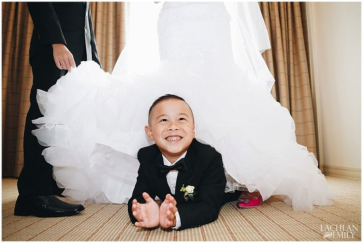 We LOVE this photo of the Ring Bearer!