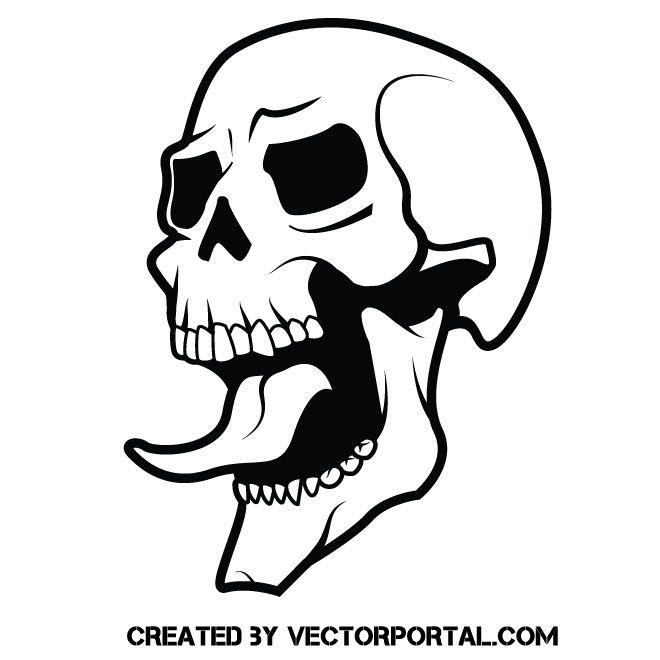 Skull With Long Tongue Skull Stencil Skull Tattoo Design