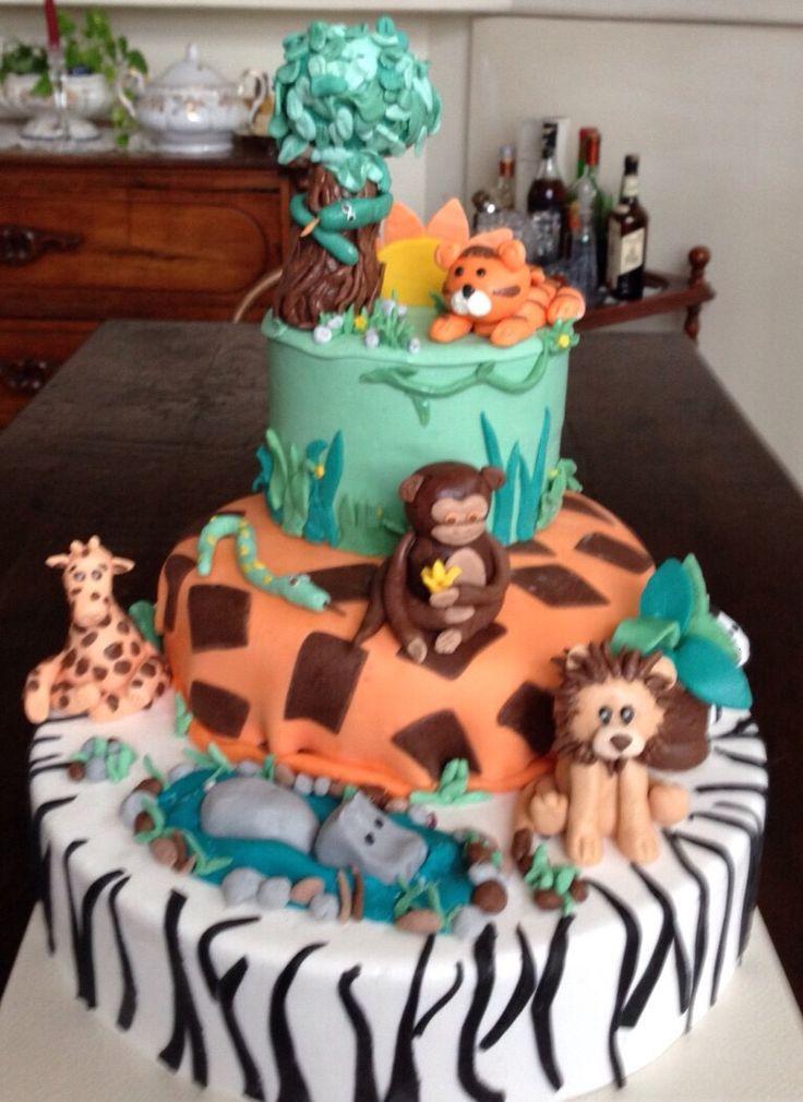 Torta tema safari