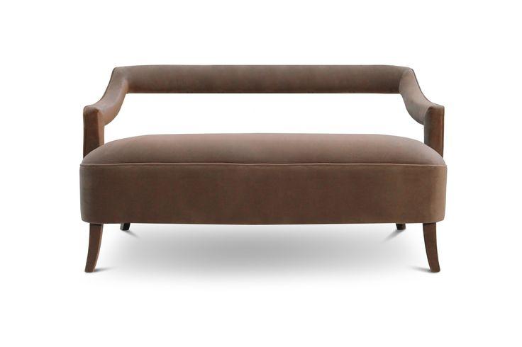 OKA Sofa | Modern Sofas | Velvet Sofa | Sofa Design | #modernsofas | #livingroomsofass | #sofas | Find more at: http://brabbu.com/category/upholstery