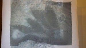 Martyna Bielicka, O.T., Mischtechnik auf Seidenpapier, 91 x 126 cm Foto Isabela Vermehren Anna25 Oktober Ausstellung München 2012