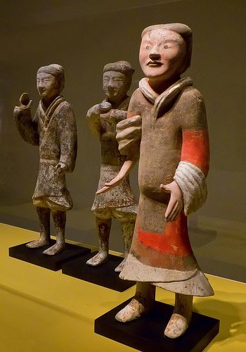 Figurines of Western Han Dynasty soldiers from the Yangjiawan Tombs near Xianyang in the Shaanxi Province of China mid-2nd century BCE