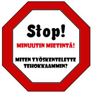 Ryhmätyön ohjaamiseen - Stop! Minuutin mietintä...