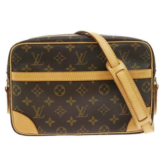 95d7e9369f97 Vtg LOUIS VUITTON Trocadero 23 Brown Leather CrossBody Monogram Purse Bag  FRANCE  fashion  clothing  shoes  accessories  womensbagshandbags (ebay  link)