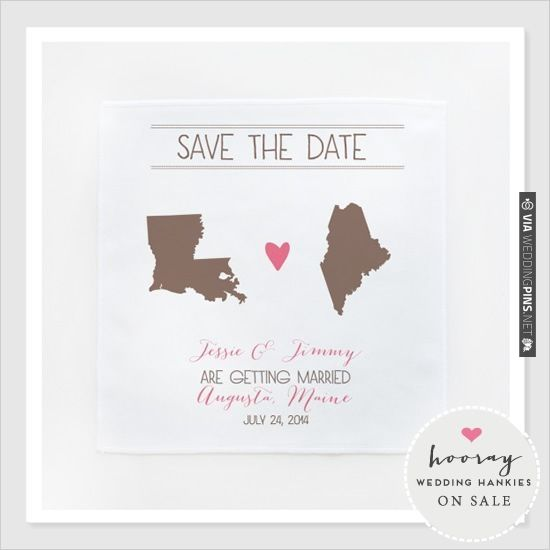 save the dates wedding hankies | CHECK OUT MORE IDEAS AT WEDDINGPINS.NET | #weddings #weddinggear #weddingshopping #shopping