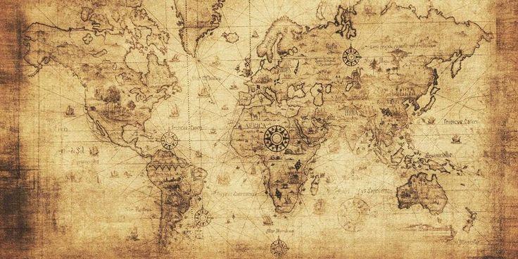 Las 25 mejores ideas sobre mapamundi antiguo en pinterest - Papel pintado mapa del mundo ...