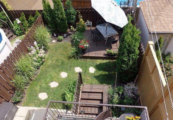 Terrassengarten Design Ideen Und Tipps Fur Einen Rechteckigen Garten Neu Haus Designs Reihenhausgarten Terrassengarten Garten