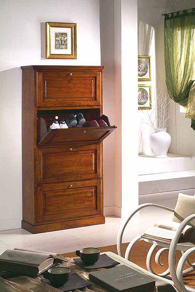 Dulap pentru pantofi din lemn masiv - Shoe Cabinet  - Catalog Zanini