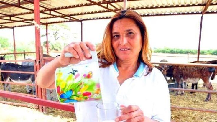 Kadın girişimci, internetten eşek sütü satışına başladı