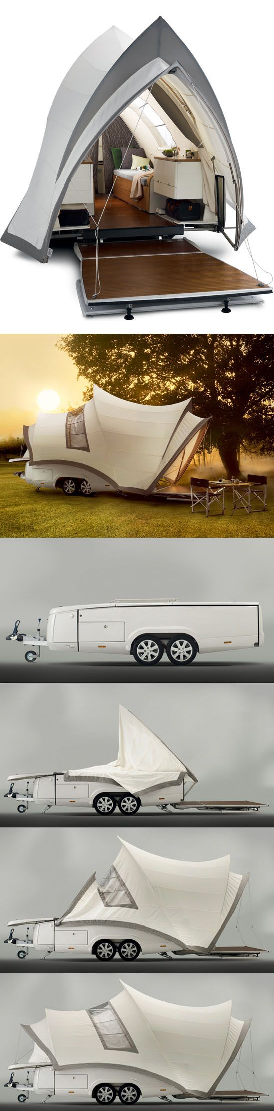 The Opera pop up camper by Ysin, inspired by the Sydney Opera House.