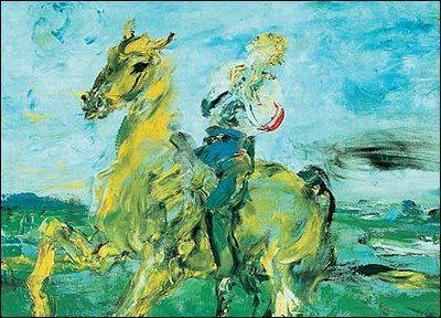 The Singing Horseman by Jack B Yeats, brother of William Butler Yeats,