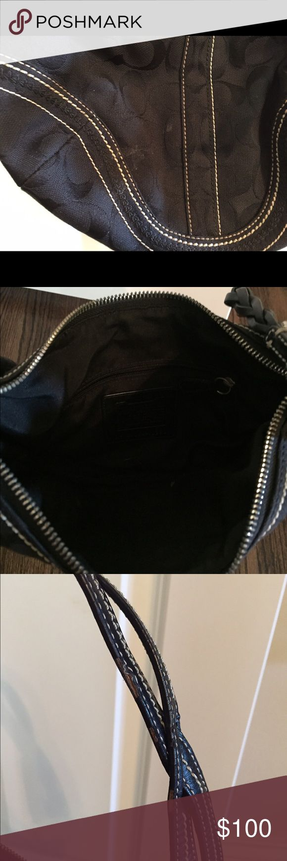 Coach purse Black on black Coach logo purse Coach Bags Shoulder Bags