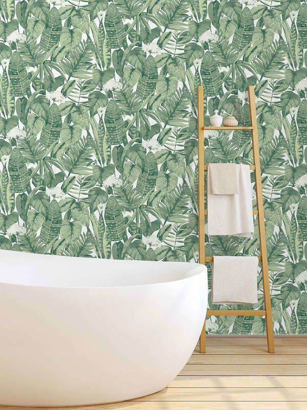 10 Places To Buy Temporary Wallpaper Tropical Wallpaper Modern Bathroom Design Temporary Wallpaper Modern wallpaper for bathrooms 10