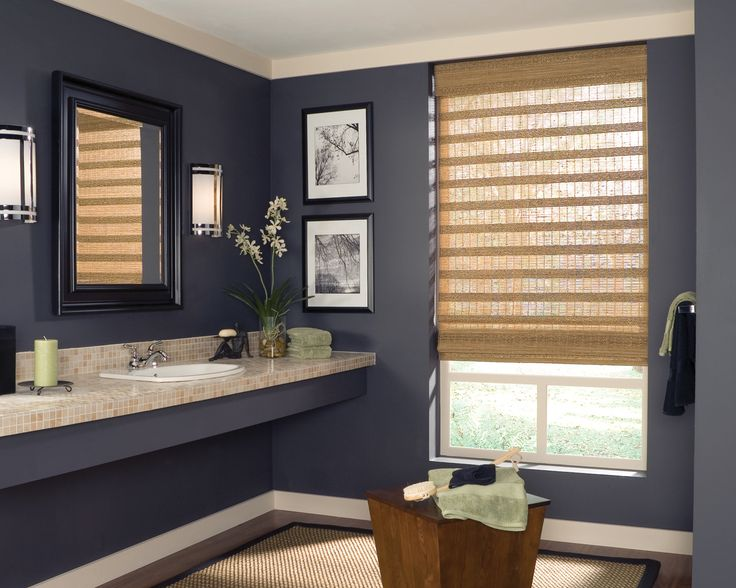 Clean Contemporary Style In A Bathroom. Www.louvershop.com · Bathroom Window  CurtainsBathroom Window TreatmentsBathroom ...