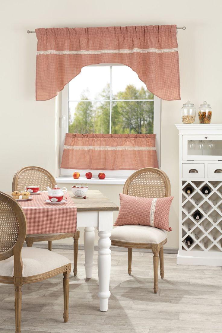 słodkaśne krateczki w połączeniu z białą koronką co Wy na to? http://www.dekoria.pl/offer/product/14048/Lambrekin-Provence-luk-czerwony